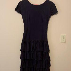 Shabby Apple Navy ruffled dress size small